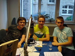 FRS Spurensuche Hendrik Ströhle, Julius Keinath, Leonard Wohlfarth im Studio