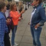 Umfrage auf der Königstraße