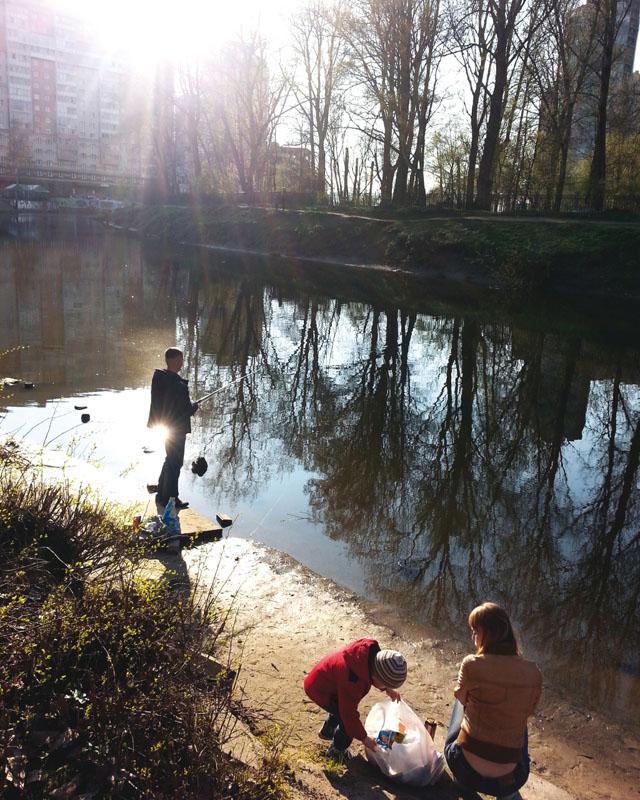 Familienausflug am Stadtrand Aufnahme: Elena Maslovskaya