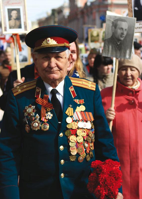 Auf dem Bessmertnyj polk am 9. Mai, dem Tag des Sieges Aufnahme: Jörg Munder