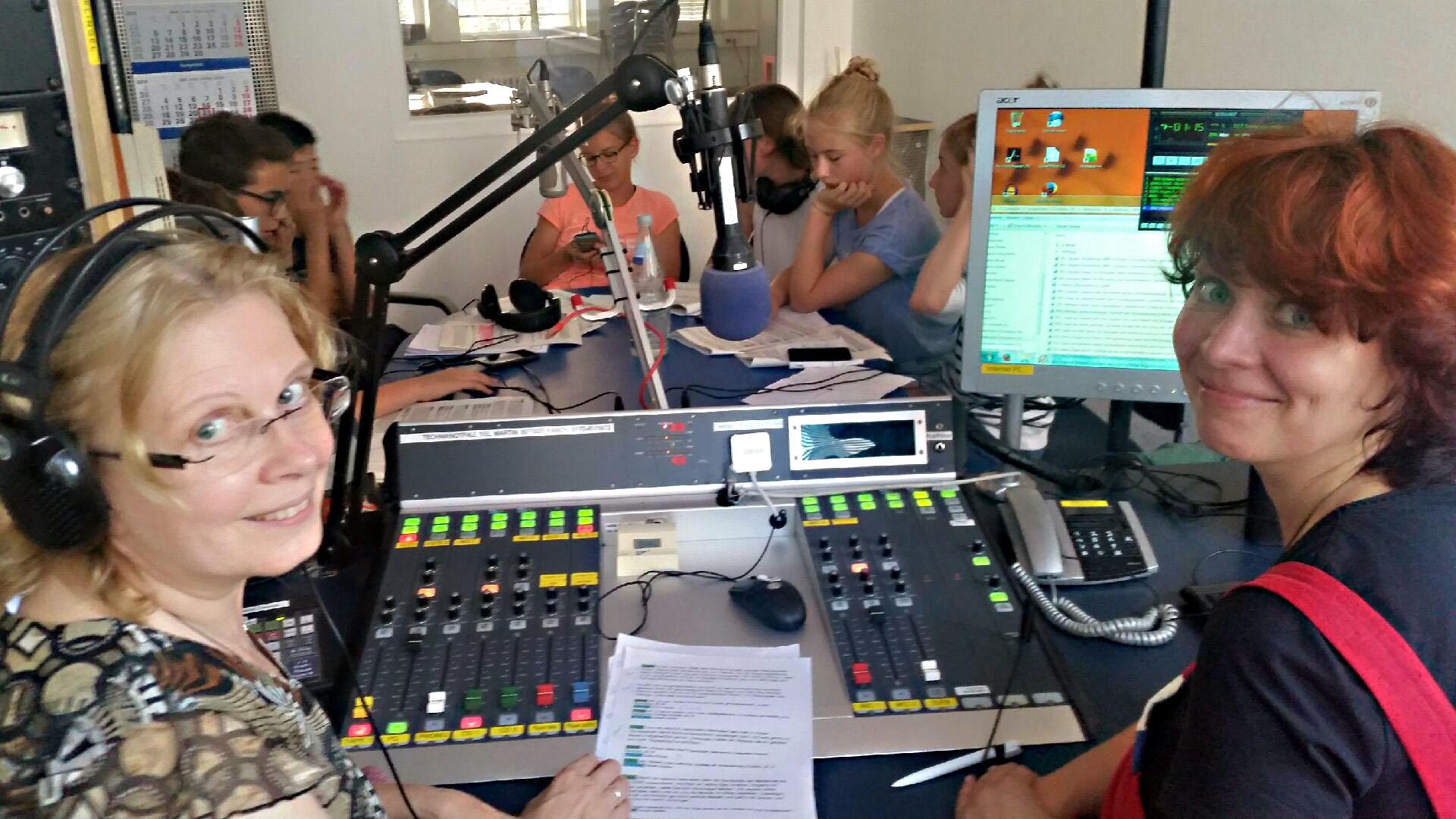 Im Sendestudio des Freien Radios für Stuttgart